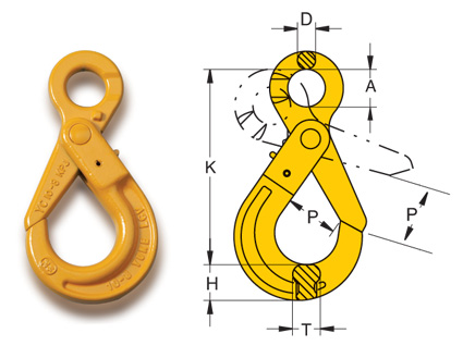 William Hackett Latch Kit To Suit 1.0 Tons Weld on Hooks